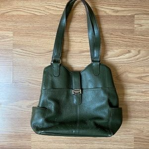 Tignanello Olive Green Bucket Bag